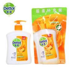 滴露 自然清新/植物呵護洗手液家用外出500g+300g/袋裝補充裝  香型隨機