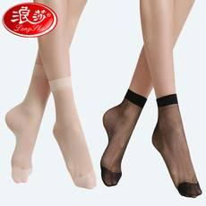 【10双装】 ?#26494;?#19997;袜 女薄款短夏季隐形黑肉色 水晶袜超薄耐磨 防勾丝短袜子
